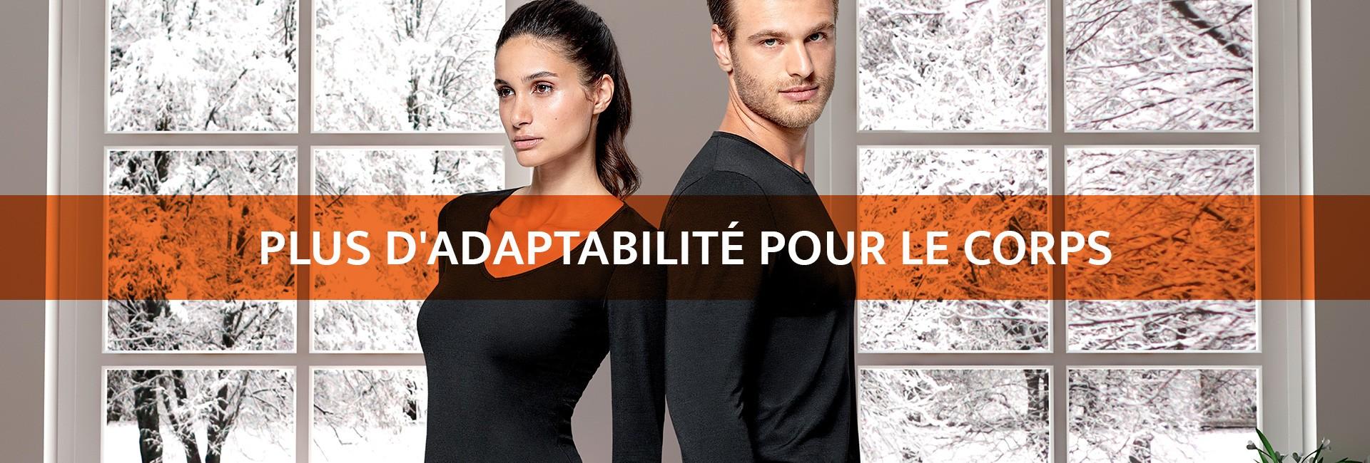 Plus d'élasticité | Plus d'adaptabilité | Plus de mobilité | Plus de confort | Sous-vêtement thermiq_1