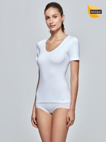 T-shirt V-neck Cotton Modal