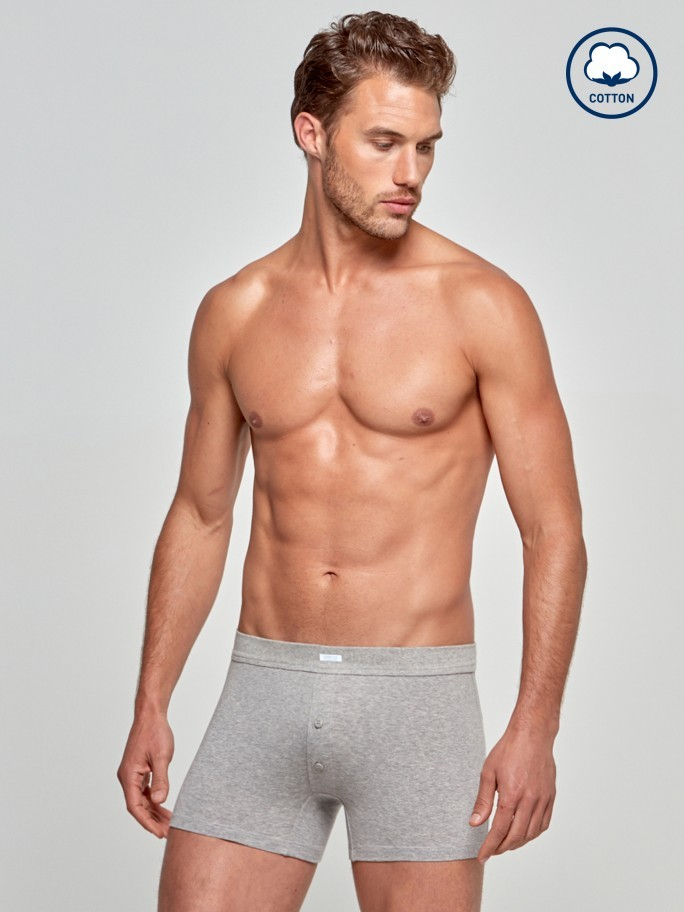 Boxer com botões Cotton Stretch
