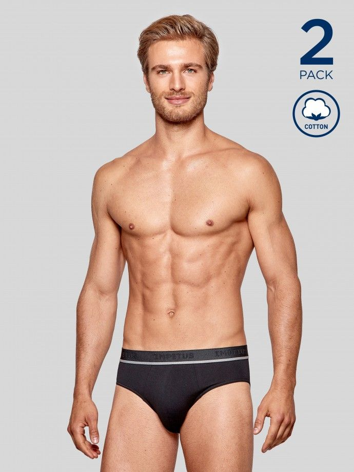 Pack 2 briefs Cotton Stretch