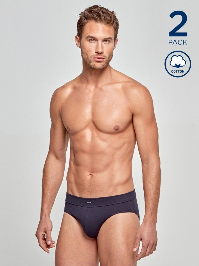 2 Pack Briefs Cotton Stretch