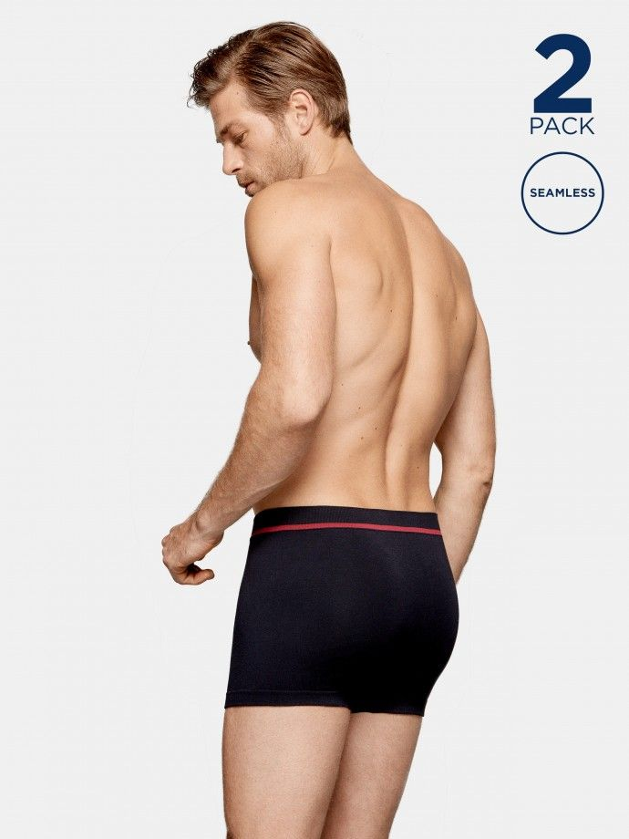 2 Pack Seamless Boxers - H02