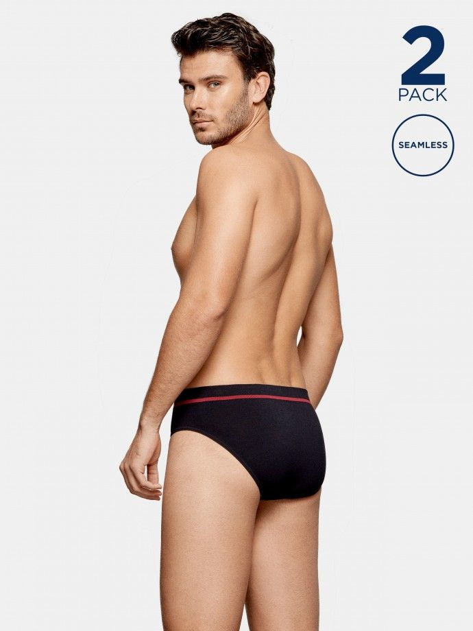 2 Pack Seamless Briefs - H02