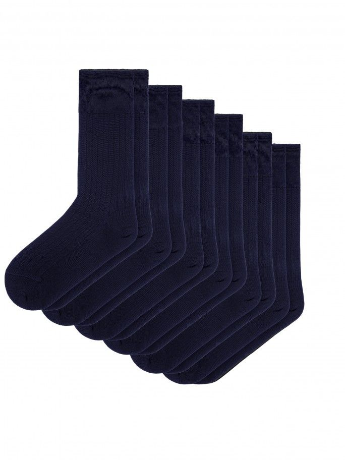 6 Pack Mercerized Cotton Socks