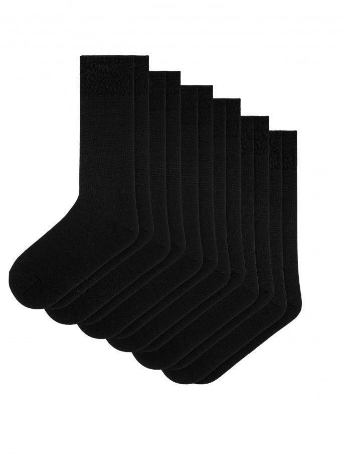 6 Pack Cotton Socks