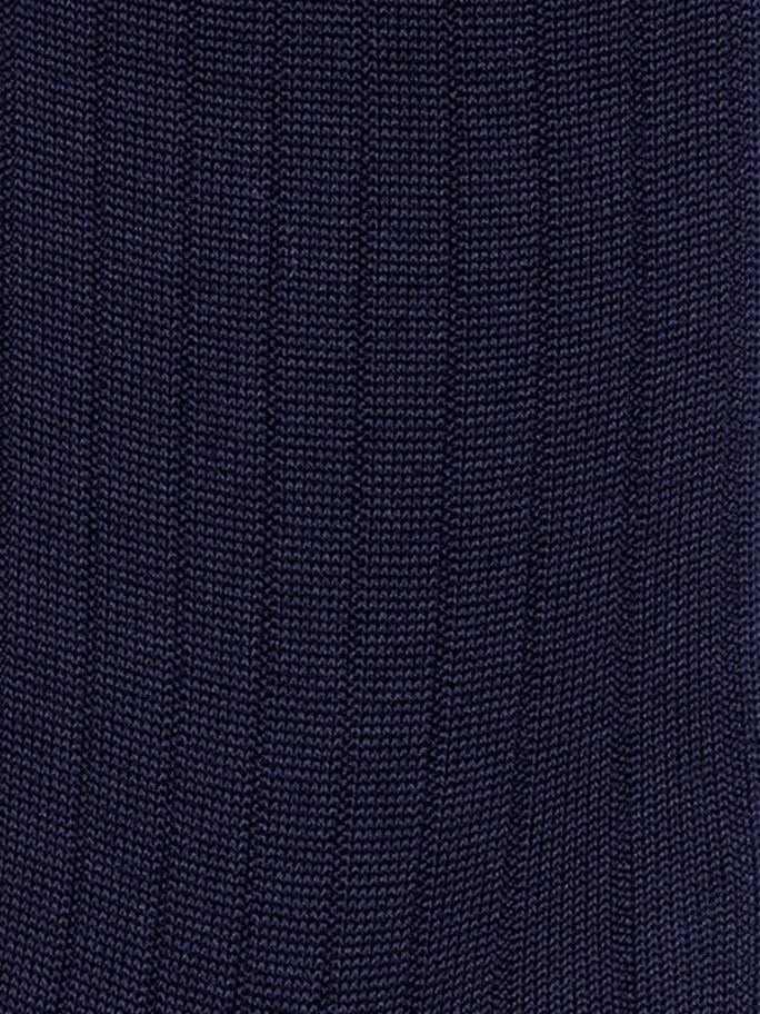 Mercerized Cotton Rib Socks