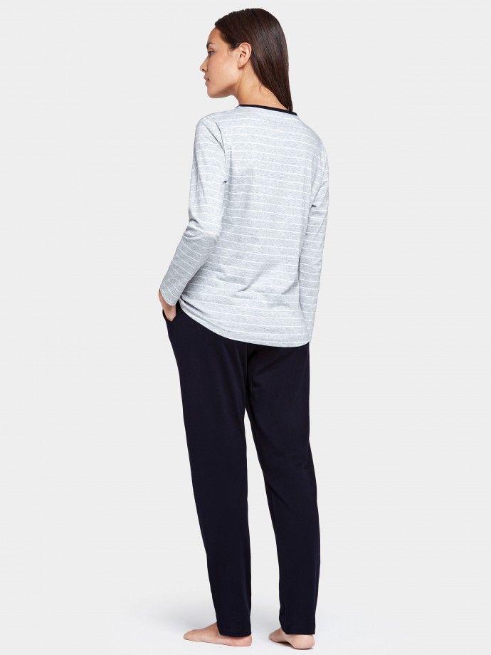 Pijama longo riscas Bio Cotton