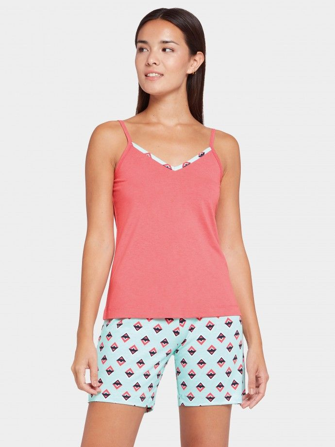 Pijama estampado Art